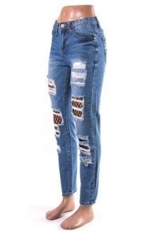 a74689eae99aa Арт.: DM 6210 джинсы Boyfriend с сеткой рванные XS-XL (синий) 270 300  грн./шт